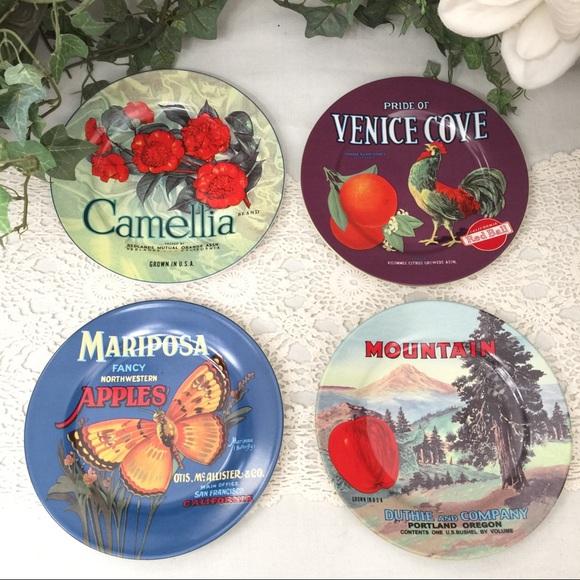 Oneida vintage label collection decorative plates